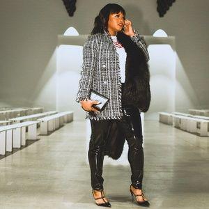 Jackets & Blazers - Black Tweed Jacket